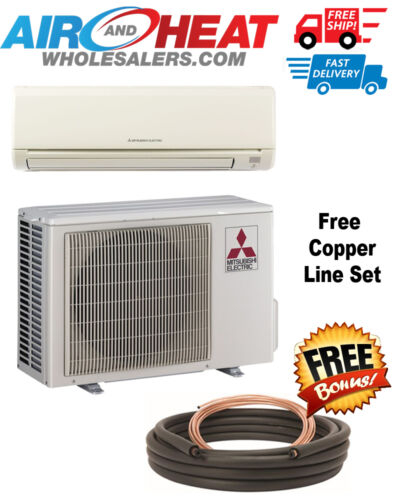 Mitsubishi Mini Split Heat Pump Inverter 9000 Btu - 18 Seer Free 25ft Line Set
