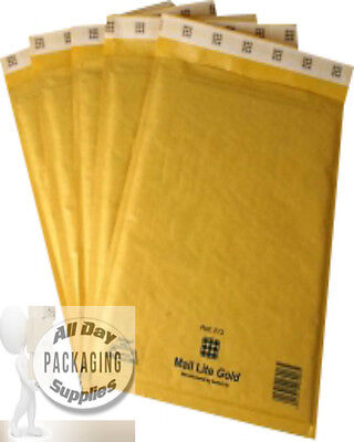 """10,000 LARGE 12 X 17"""" J6 MAIL LITE BUBBLE ENVELOPES PADDED MAILING BAGS GOLD"""