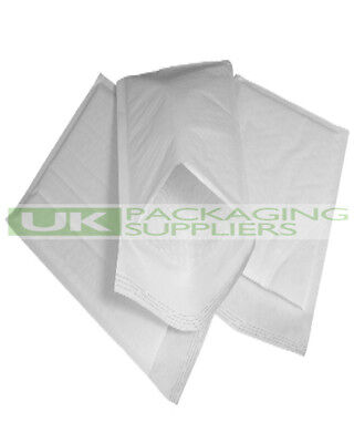 50 LARGE 290 x 445mm WHITE PADDED BUBBLE SELF SEAL ENVELOPES MAILERS - NEW