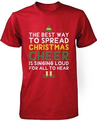 Men's Graphic Tees - Best Way to Spread Christmas Cheer Red Cotton