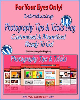 Photography Tips   Tricks Blog Self Updating Website   Clickbank Amazon Adsense