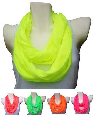 Loop Schal Schlauchschal Tuch Rundschal einfarbig Neon Unisex Damen Herren