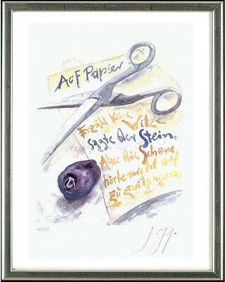 Günter Grass (1927-2015), Auf Papier, 2001 - signiert, gerahmt