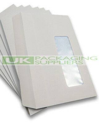 1000 A6 C6 SIZE WHITE PAPER SELF SEAL ENVELOPES + WINDOW 114 x 162mm SS - NEW