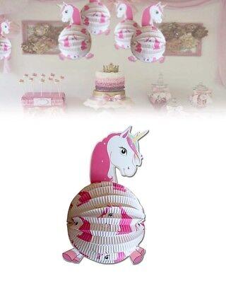 3 Lanterne unicorno 3d diametro 25 x 36,5 cm - decorazioni e accessori per feste
