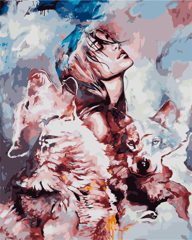 Wolf Girl - USA Store - Paint by Number kit