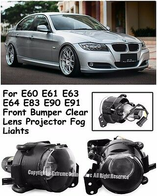 M3 M5 Style Projector Fog Lights Lamps For 04-11 BMW E90 3-Series E60 - Lights Body
