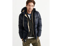 Abercrombie & Fitch Navy Down Puffer Jacket RRP £210 Size S