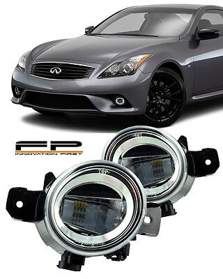 For 2011 Infiniti G37 Coupe LED Replacement Fog Lights Housing Clear Lens Pair (Infiniti G37 Coupe)