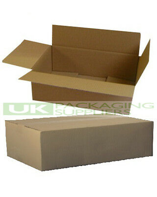 500 DEEP Size Royal Mail Small Parcel Cardboard Postal Boxes 350x250x160mm - NEW