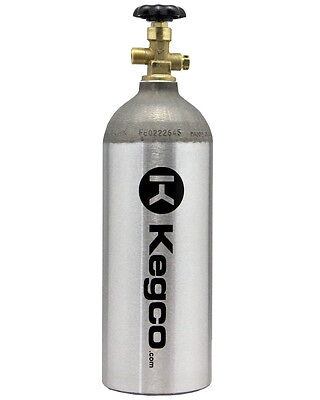Kegco 5 Lb. Co2 Tank Aluminum Air Cylinder Draft Beer Kegerator Welding Aquarium