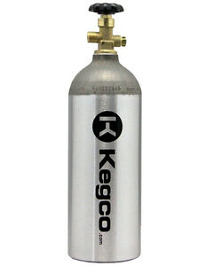 Kegco 5 lb. CO2 Tank Aluminum Air Cylinder Draft Beer Kegerator Welding Aquarium