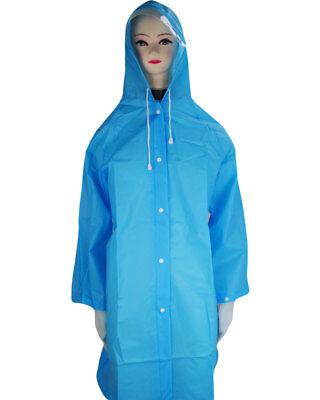 el Regenponcho Regencape mit Rand an der Kapuze Blau (Regenmantel Poncho)