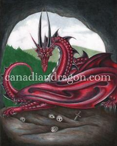 Original Dragon Art from published book 11x14 local artist OOAK