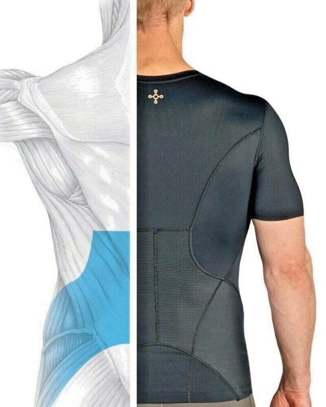 Tommie Copper Mens Lower Back Pain Brace Support Shirt Pro Fit Lumbar Spine