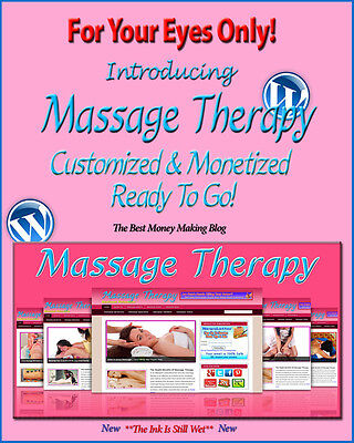 Massage Therapy Blog Self Updating Website Clickbank Amazon Adsense Affiliates