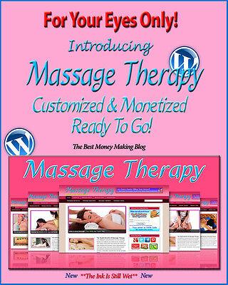 Massage Therapy Blog Self Updating Website Clickbank Amazon Adsense Affiliates