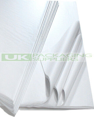 """2000 SHEETS OF 450 x 700mm 18 x 28"""" WHITE ACID FREE TISSUE WRAPPING PAPER - NEW"""