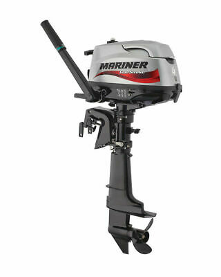 SPECIAL! MARINER 4HP Short Shaft Tiller Control 4-Stroke Outboard 5 Yr Warranty