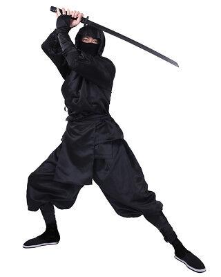 Black Ninja Costume Adult Uniform Suit Japanese Warrior Cosplay Halloween Outfit](Black Ninja Costumes)