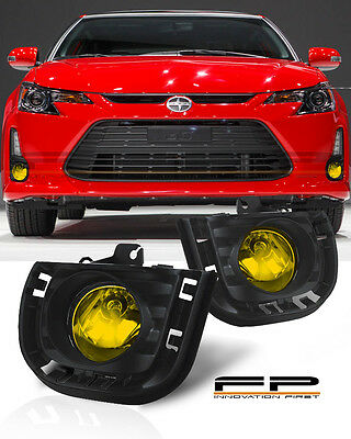 2014-2016 Scion tC Yellow Lens Front Bumper Driving Fog Lights Full Complete Kit Custom Driving Light Kit