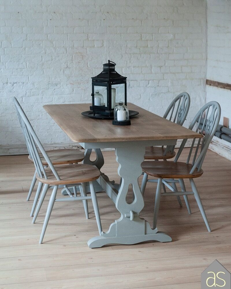 *SALE* Restored U0026 Up Cycled Solid Oak Dining Table U0026 Ercol Chairs In