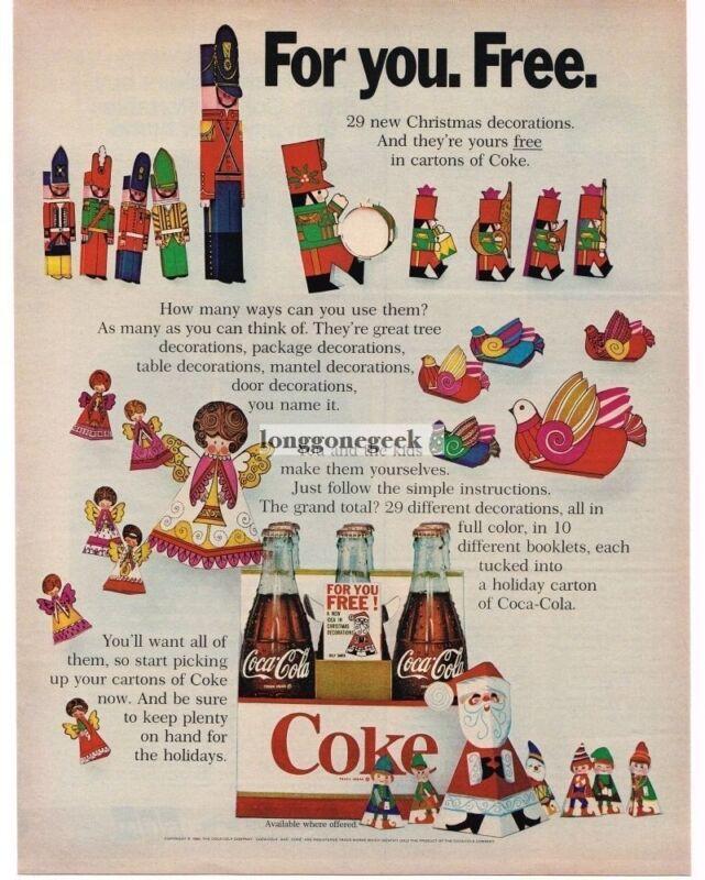 1968 Coca-Cola Coke Christmas Vintage Ad