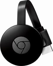 NEW Google Chromecast 2nd Generation HD Smart Media Streamer Black Voice Command