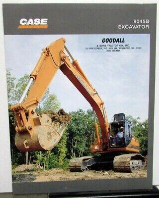 1998 Case 9045b Excavator Dealer Sales Brochure Folder Construction Equipment