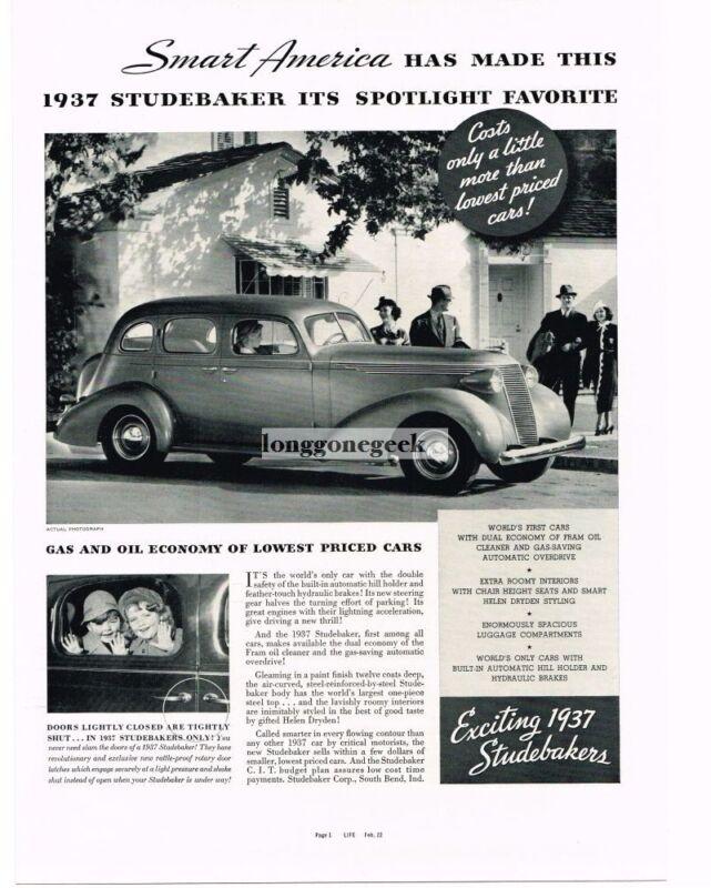 1937 Studebaker PRESIDENT 4-door Sedan Vintage Ad
