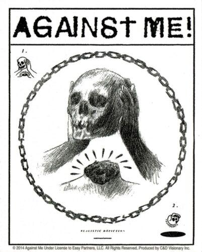 Sticker - Against Me Decapitated Skull Head Logo Punk Rock Alt Folk Decal 15842