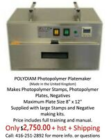 Photopolymer Stamp and Letterpress Plate Making Machine
