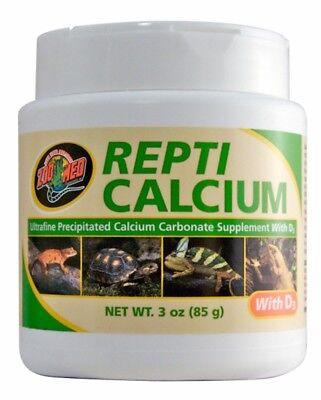Zoo Med Repti Calcium Carbonate Supplement D3 Ultra Fine 3 oz Phosphorus Free ()