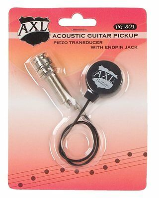axl pg-801 piezo transducer with endpin jack acoustic guitar pickup