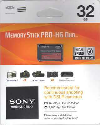 Sony 32 GB Memory Stick PRO-HG Duo MS-HX32B/KQ1