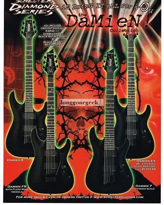 2005 SCHECTER Diamond Series Electric Guitars DAMIEN COLLECTION Vintage Ad