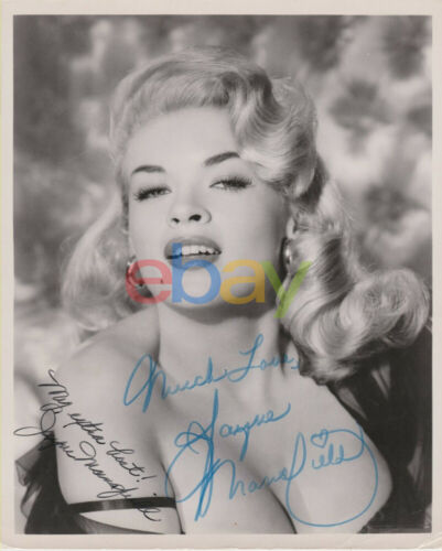 Jayne Mansfield Autograph Signed Photo reprint