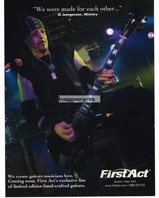 2005 FIRST ACT Electric Guitars AL JOURGENSEN of Ministry Vintage Ad