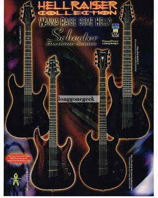 2005 SCHECTER Diamond Series Electric Guitars HELLRAISER COLLECTION Vintage Ad