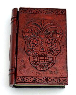 Sugar Skull Calavera Day of the Dead Book Jewelry Trinket Box Dia de los Muertos