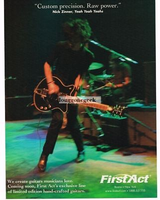 2005 FIRST ACT Electric Guitars NICK ZINNER Yeah, Yeah, Yeahs Vintage Ad