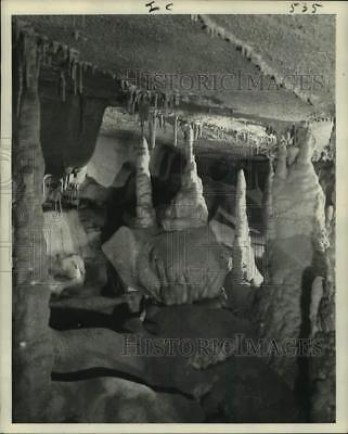 Press Photo Cave-onyx formation in Mammoth Cave National Park, Kentucky