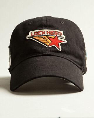 Red Canoe Lockheed Logo BallCap Cap Hat Black
