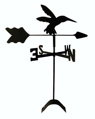 hummingbird  weathervane black wrought iron look roof mount made in usa TLS1027R