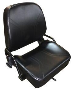 New Universal Folding Forklift Seat Cat Clark Komatsu Nissan Yale Toyota Hyster