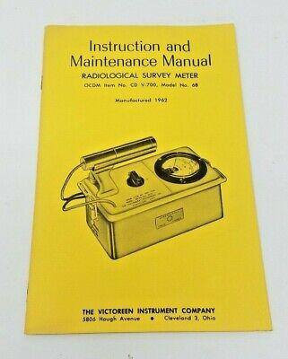 Vintage 1962 Victoreen Instruction Manual For Cd V-700 Model 6b Geiger Counter