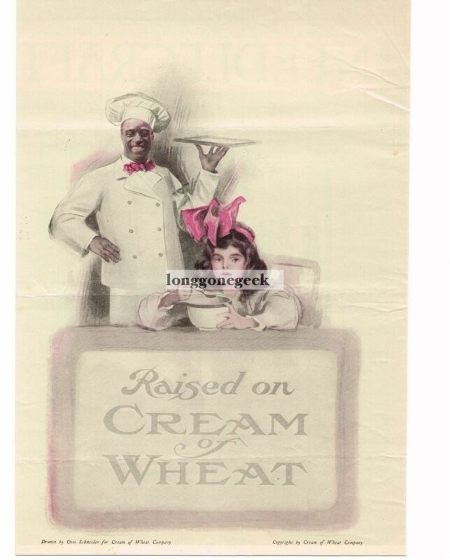"1920 Cream Of Wheat Cereal ""Raised On"" Otto Schneider art Vintage Print Ad"