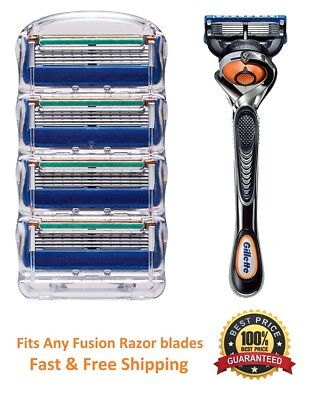 ^5 Gillette FUSION FLEXBALL Razor Blades Cartridges Refills fit Proglide Shaver, used for sale  Shipping to Canada