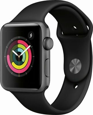 Apple Watch Series 1 38mm Aluminum Case Black Sport Band - (MP022LL/A)