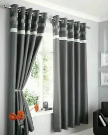 Faux Silk Ring top curtains
